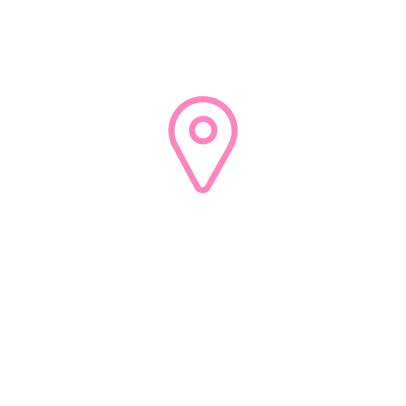 GMB Icon Map White Pink