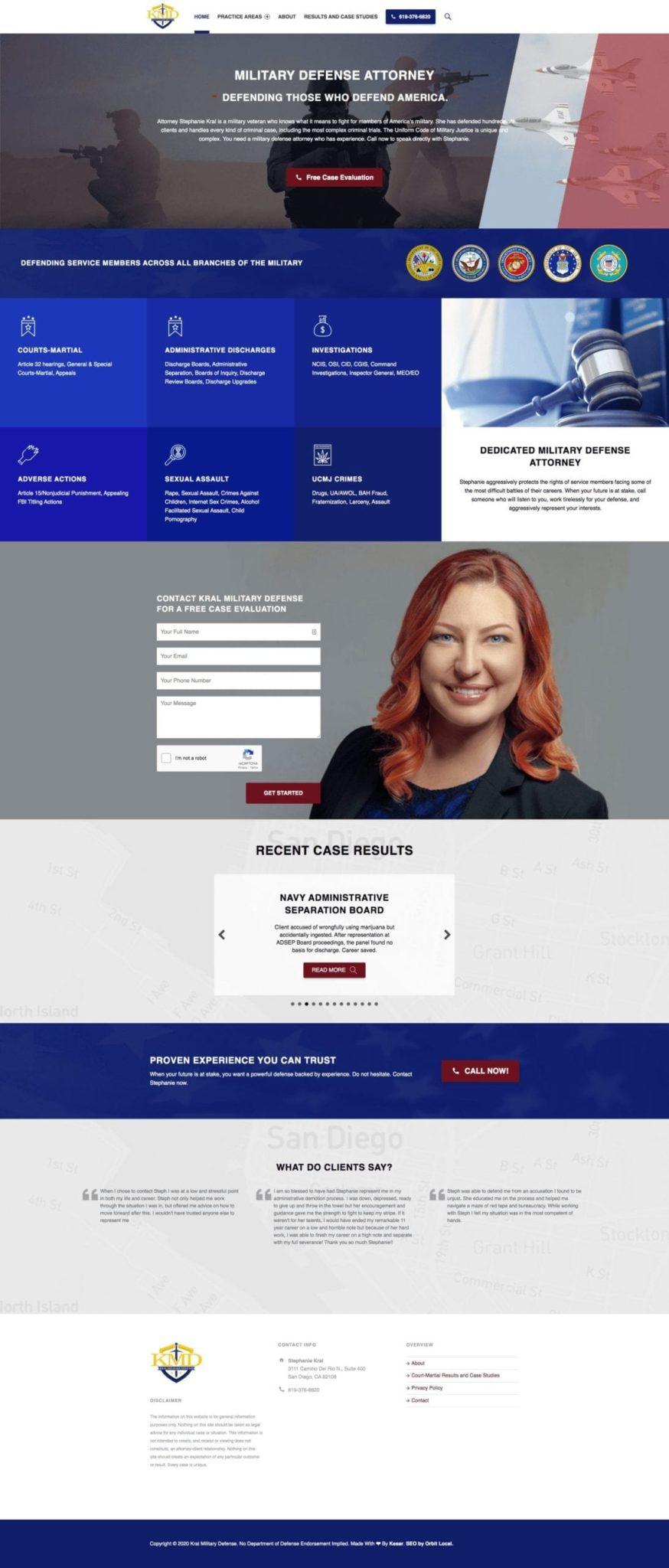 Kral Military Defense Website Design