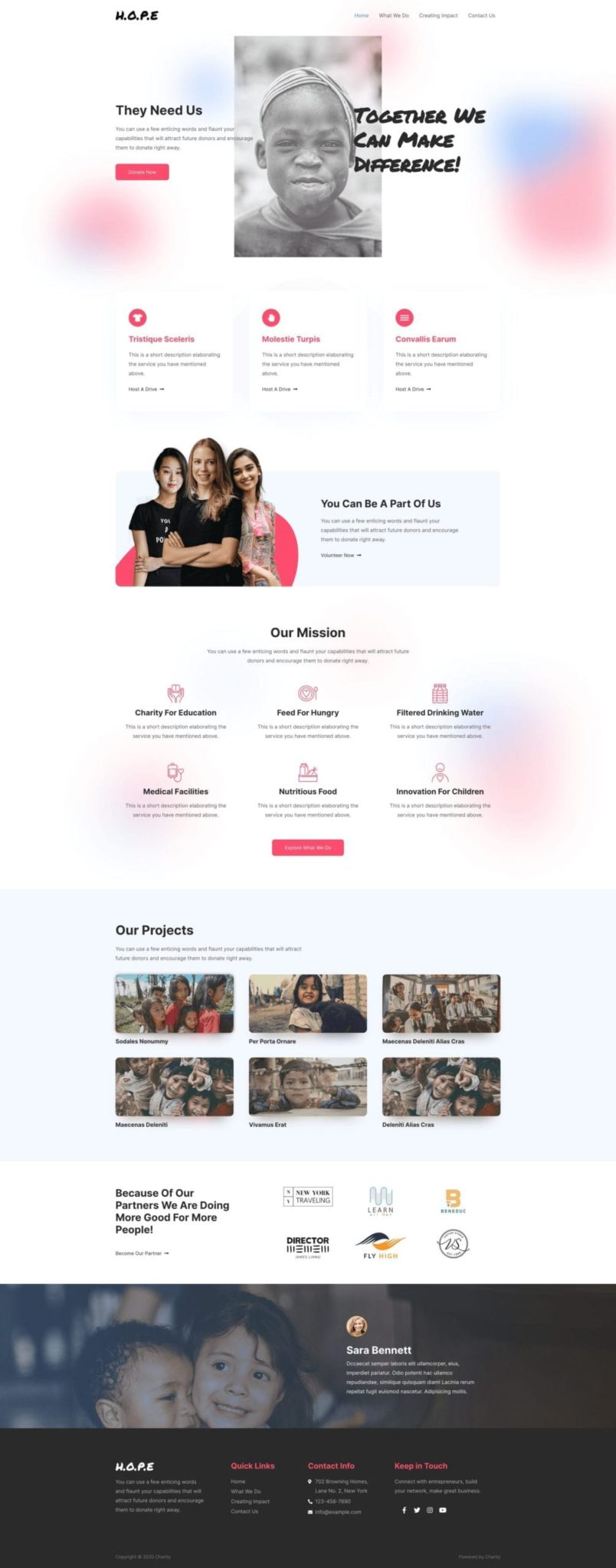Preview Charity Site