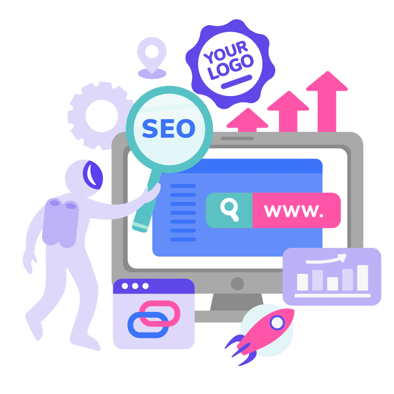 SEO Illustration White Label SEO Services To Scale Your Agency at Light Speed 01