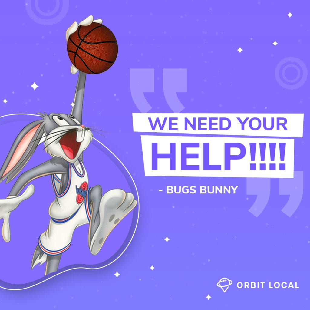 """Space Jam Quotes 3: """"We need your help!!!"""""""