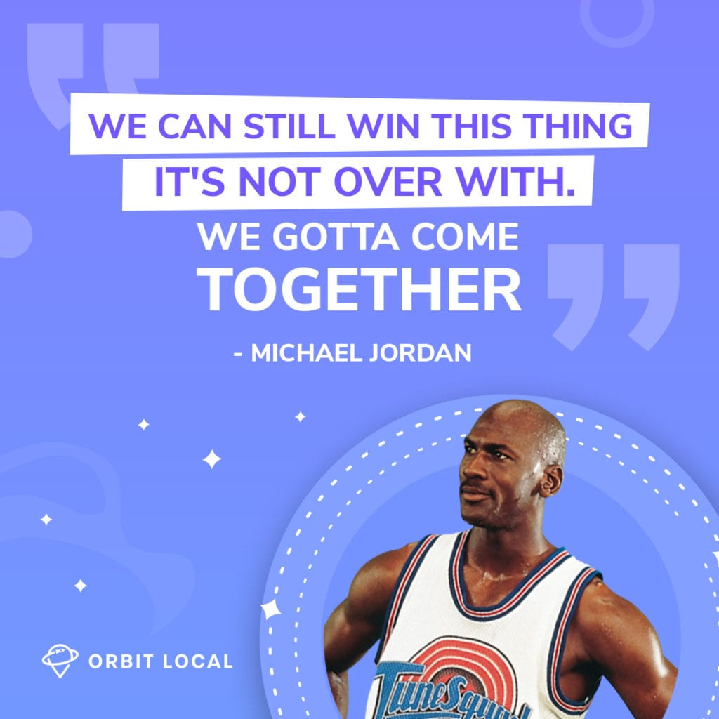 """Space Jam Quotes 6: """"We can still win this thing. It's not over with. We gotta come together."""""""