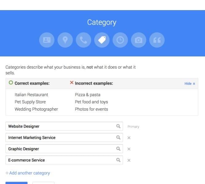 Optimizing Google Maps profile using correct categories