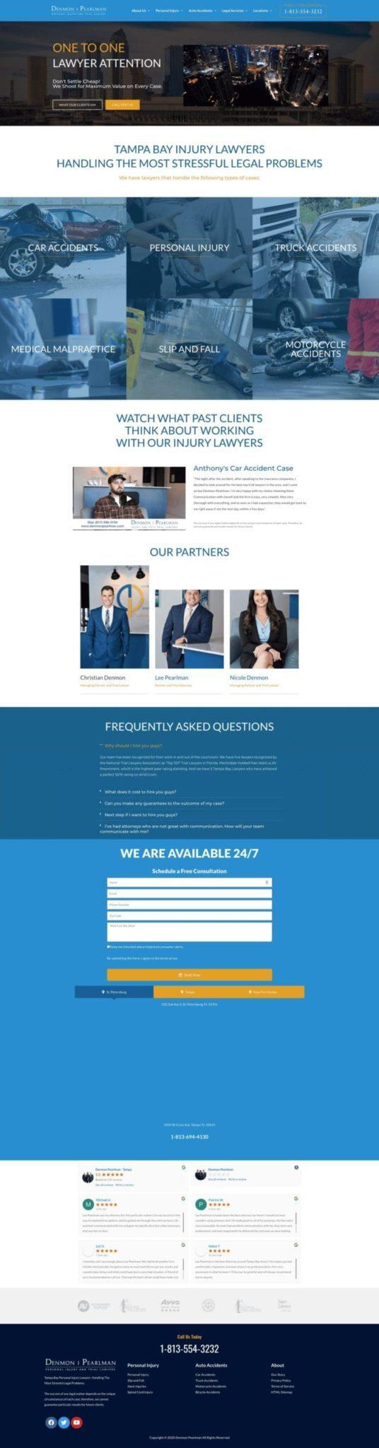 Denmon Pearlman Website Design