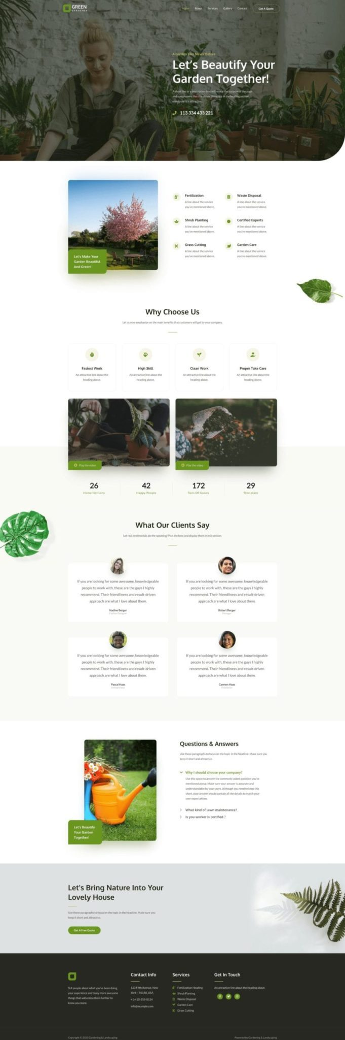Preview Landscaping Site