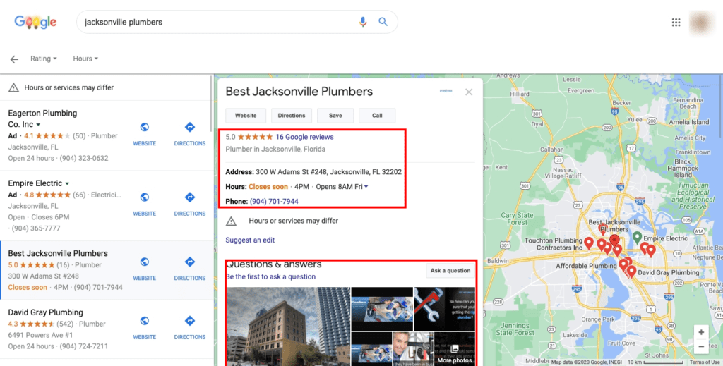 Local Marketing Search Results Page