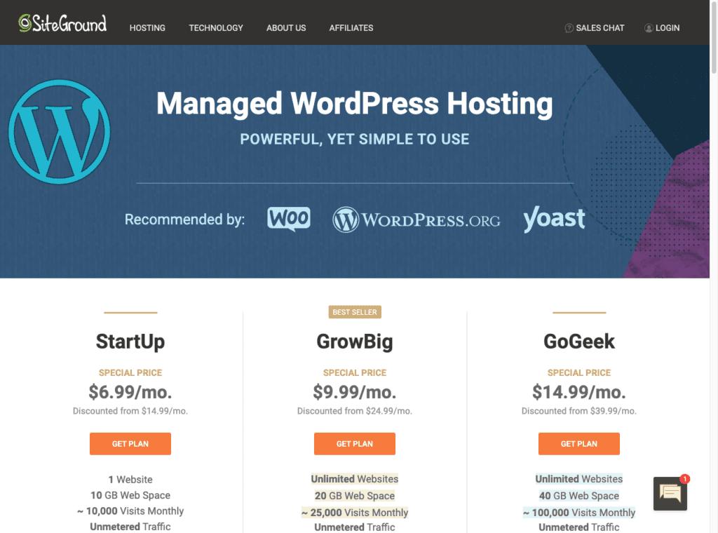 Site ground managed wordpress hosting