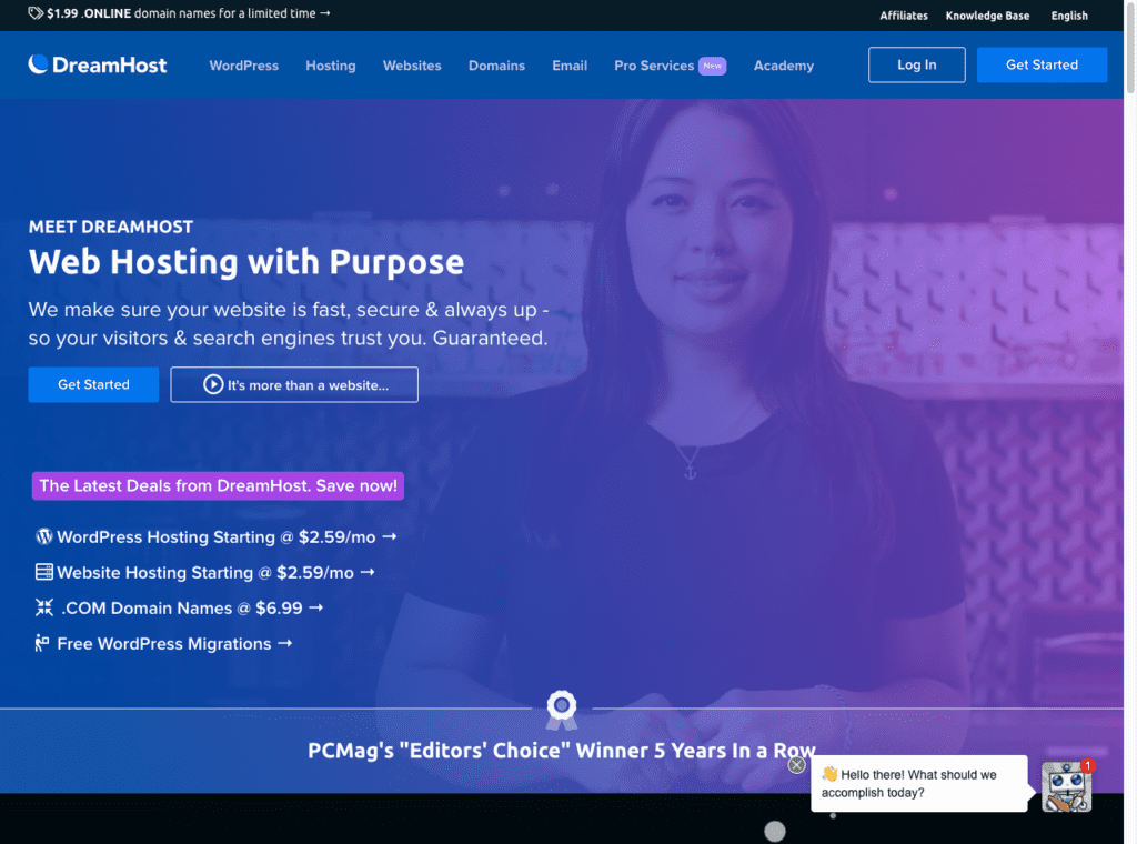 Dreamhost: Affordable web hosting for small business
