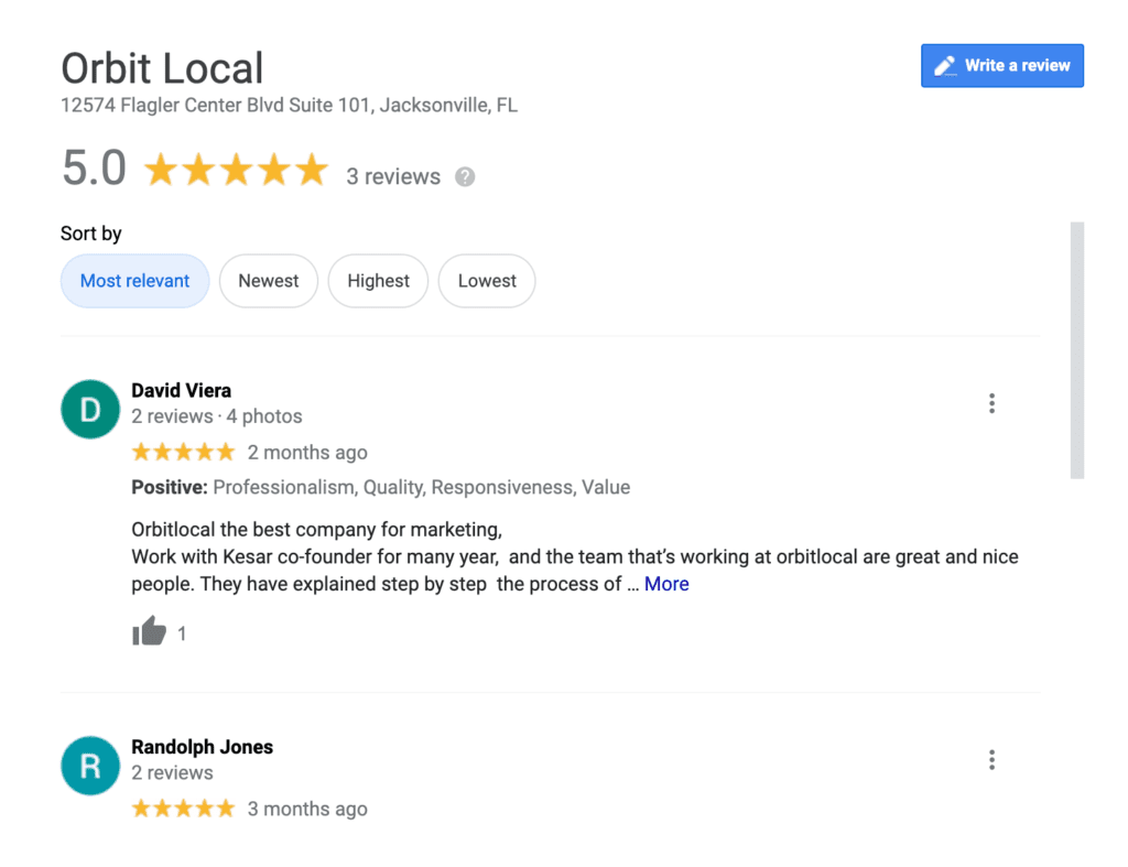 Orbit Local Reviews