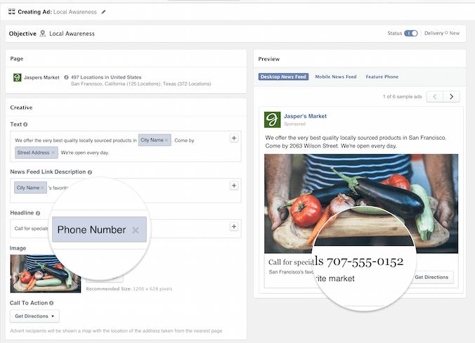 Creating a Facebook Local Awareness Ad