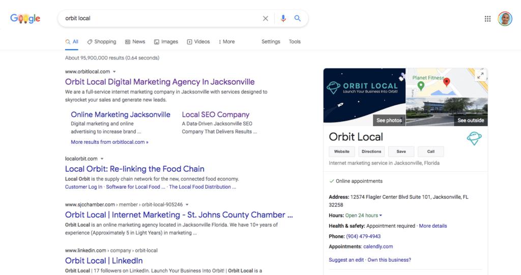 Orbit Local Google My Business Profile