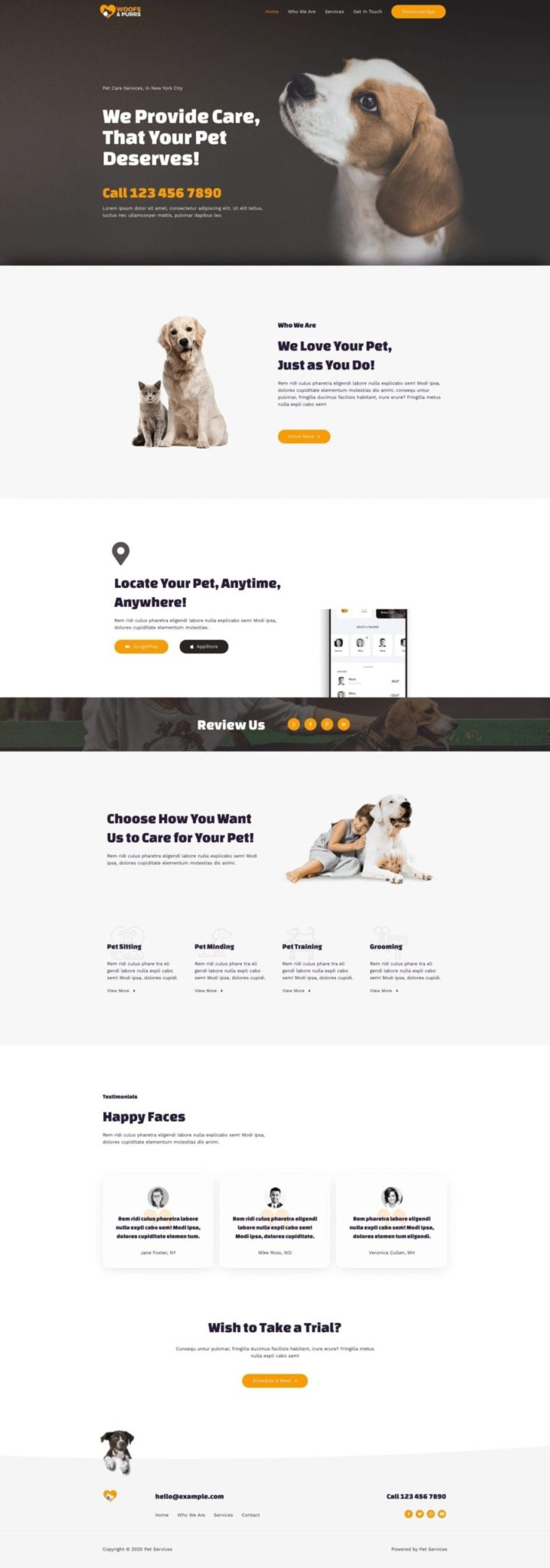 Preview Pet Sitting Site